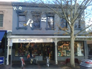 Where Melbourne White People buy their books: Readings in Carlton
