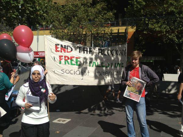 Students protest RMIT University's Israel ties
