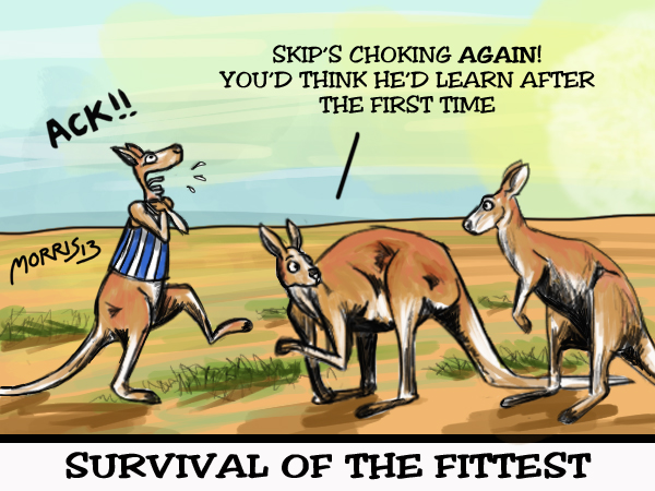 While the Kangaroos have shot themselves in the foot early in..