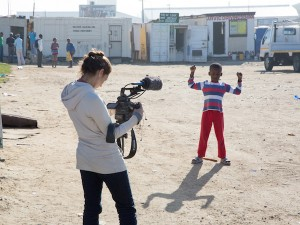 Filming_Documentary_about_Sinenjongo_High_School_in_Joe_Slovo_Park,_Cape_Town,_South_Africa_-_02