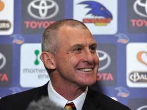 XXXXXX speaks to the media during an Adelaide Crows AFL press conference, announcing Phil Walsh as head coach, at AAMI Stadium on October 7, 2014 in Adelaide, Australia.