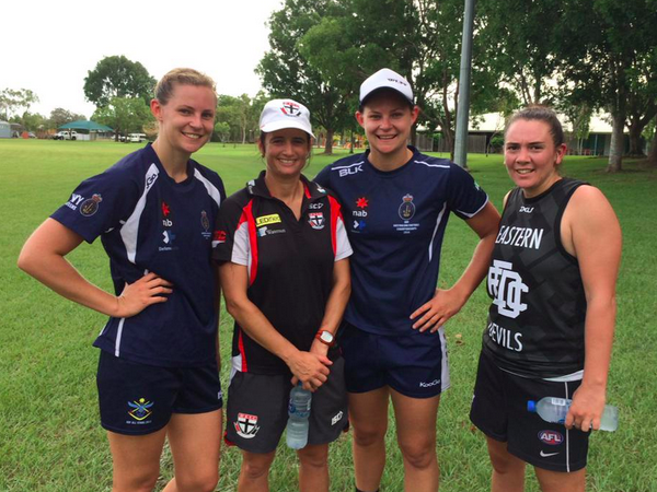 Peta Searle, the first female assistant AFL coach, says St..