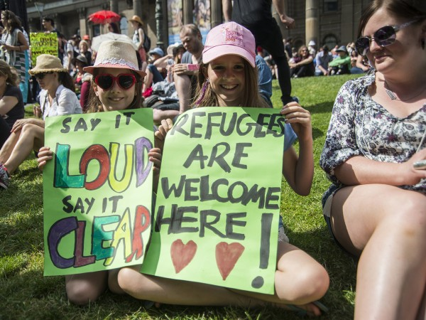 Protest against refugee policy