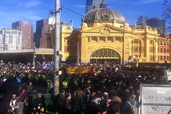 Black lives matter in Melbourne