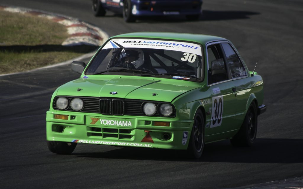 Jess Bell racing in the BMWCCV Sprint Championship