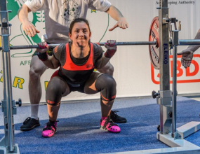 Rochene Higginson is lifting to new heights