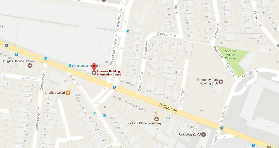 The location of the factory fire in Footscray overnight.