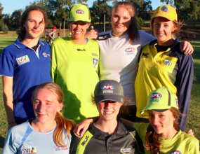 Number of female AFL umpires on the rise.