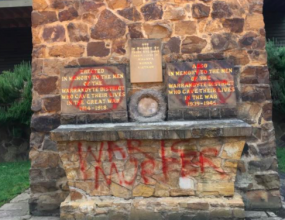 Vandals trash Warrandyte RSL war memorial