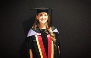 Jessa Rogers graduating from the Queensland University of Technology. Source: Jessa Rogers