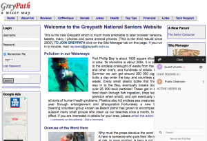 The first Australian seniors website Greypath.