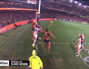 The score review system introduced by the AFL in 2012 has..