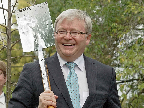 Rudd afraid to take a swing