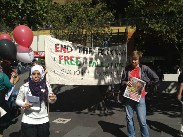 Students protest RMIT University's Israel ties