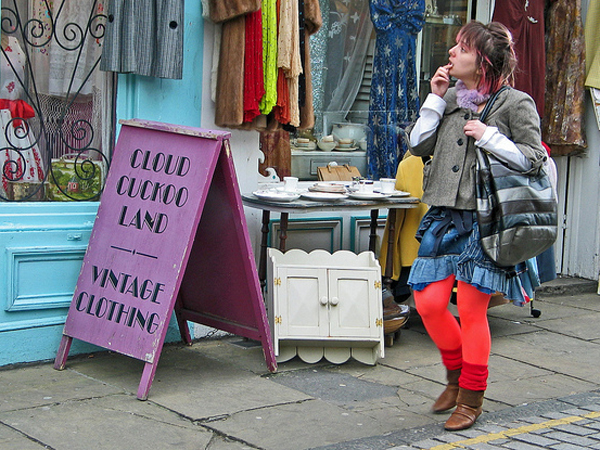 Vintage stores are grabbing designer pieces in charity shops..