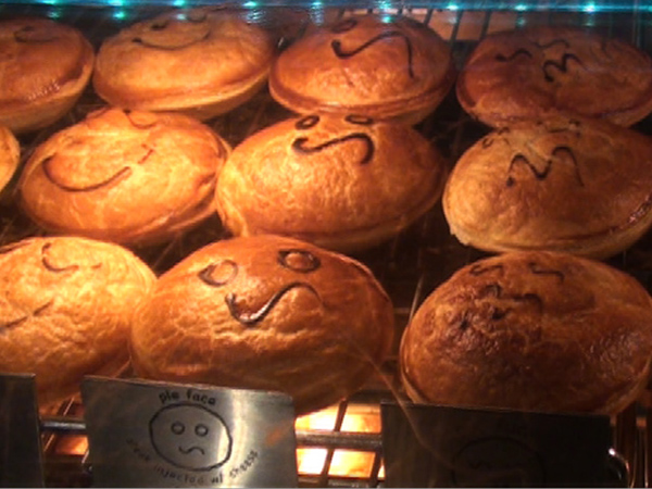 Not just a Pie Face: Adrian Nagorski works night shifts to..