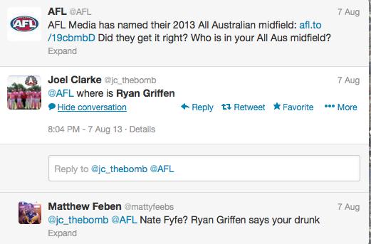 Many believe Griffen should a lock for an all-Australian Jumper