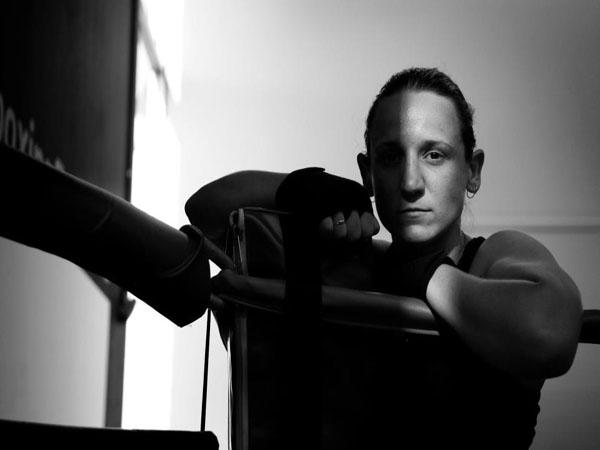 Australian boxing world champion Diana Prazak fights for..