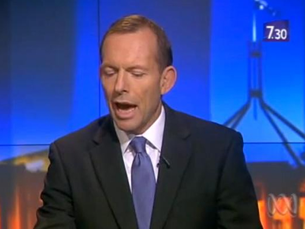 ABC journalist Leigh Sales unnerves Tony Abbott as she..