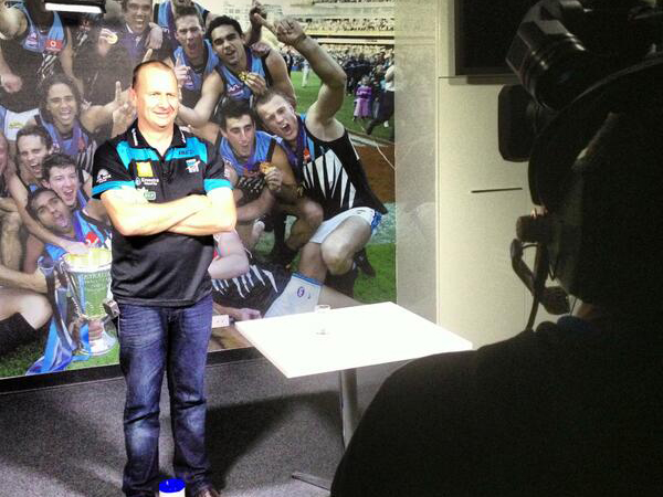 Naming Port Adelaide coach Ken Hinkley the 2013 AFL coach of..