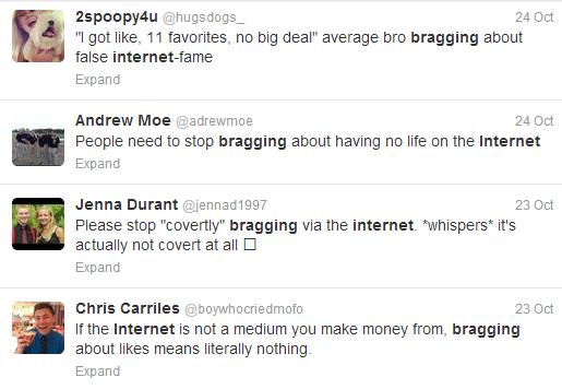 internet bragging