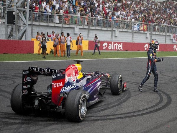 Sebastian Vettel clinched his fourth consecutive F1..