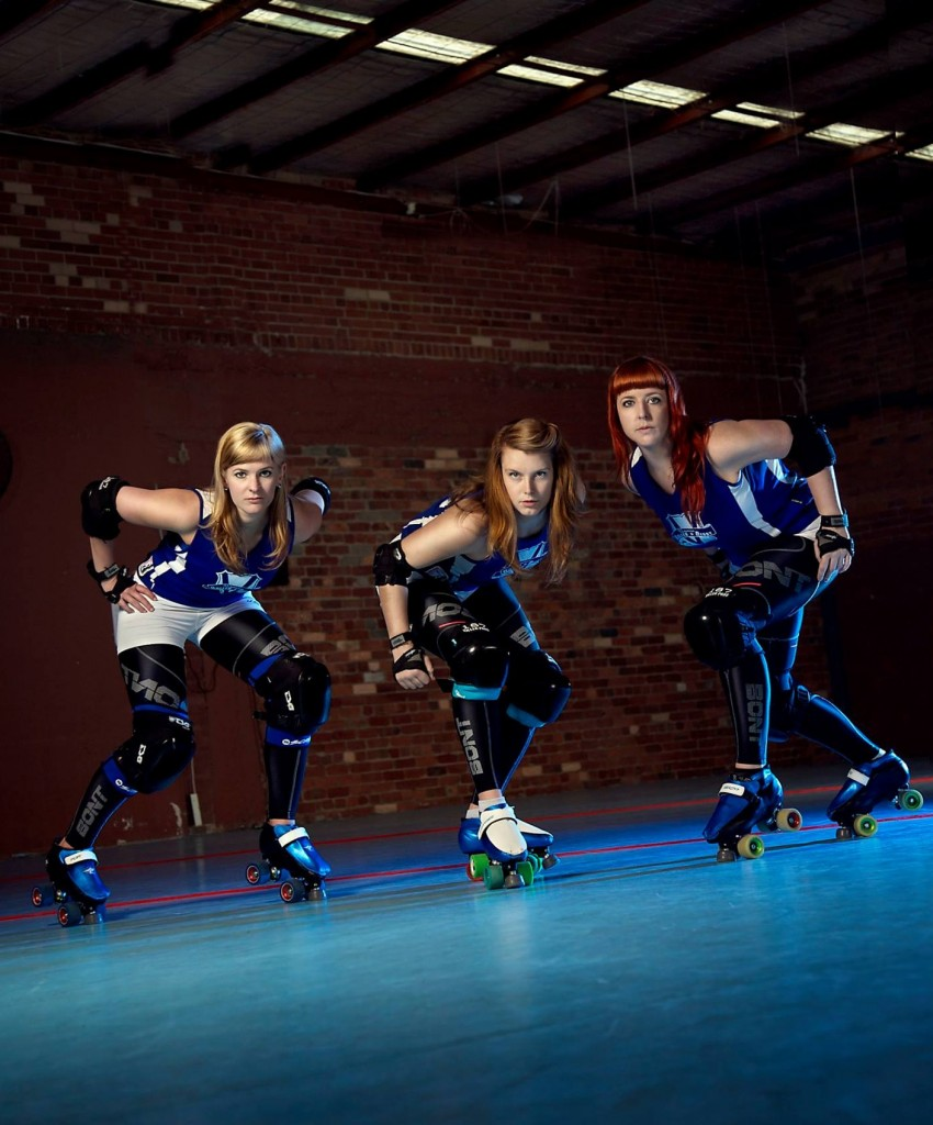 L to R: Smashin' Pop, G-Banger and Calamity Maim from the VRDL All-Stars. Source: Calista Lyon