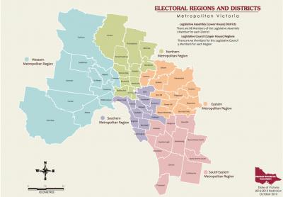 melbourne metropolitan state electorates