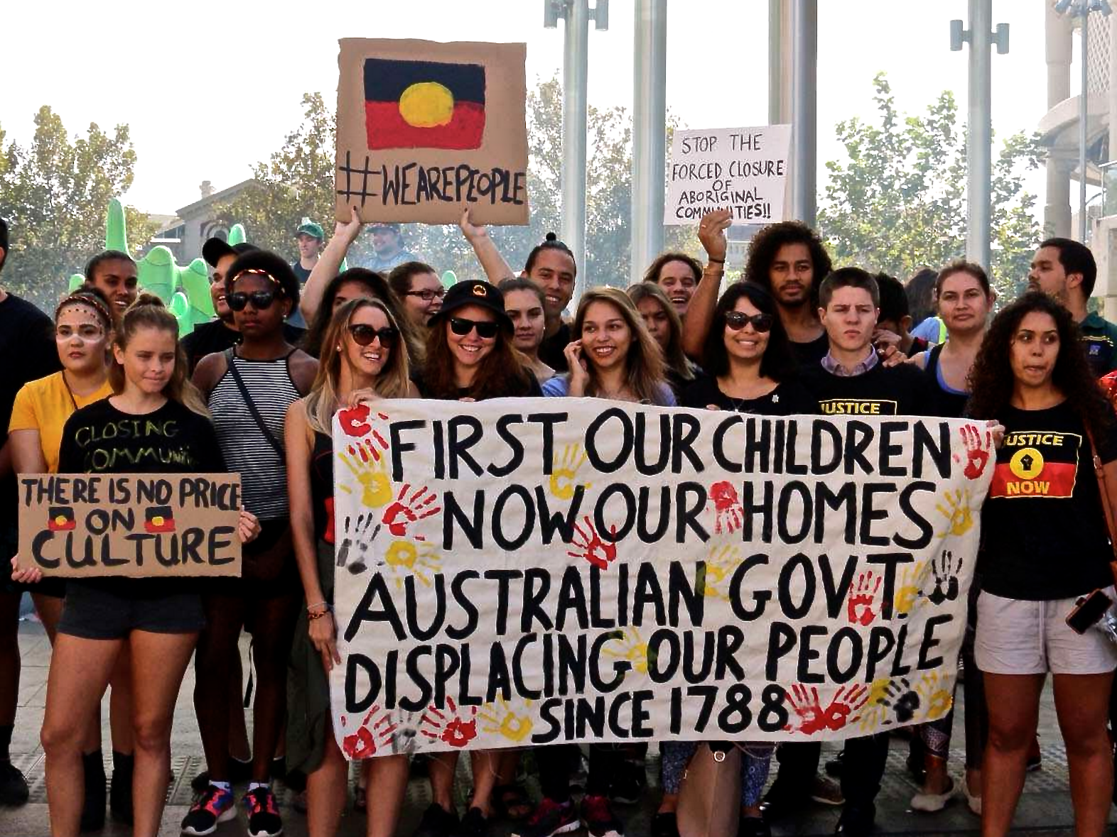 Protest over remote community closure