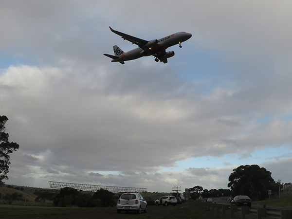 Plane spotters regularly gather at Melbourne Airport to gaze..