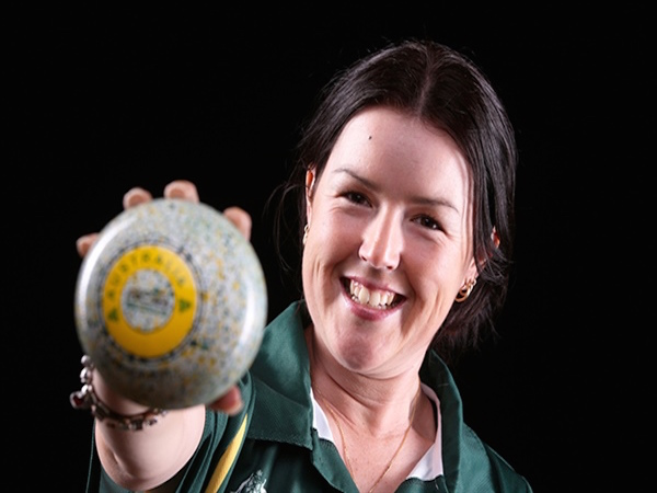 Lawn bowls' golden girl