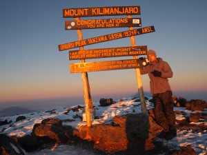 On top of the world; Mount Kilimanjaro