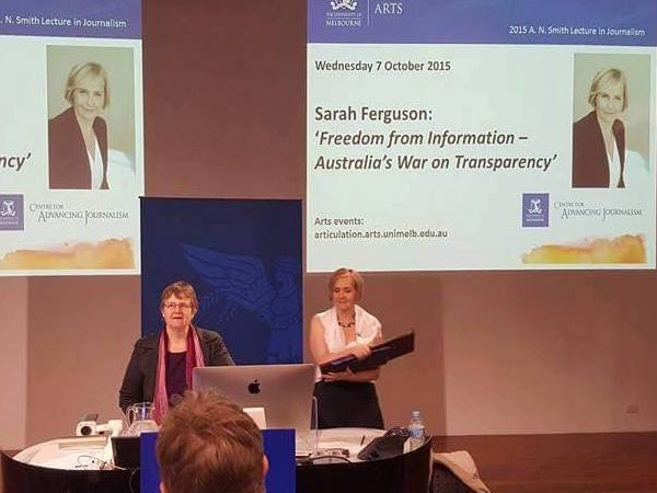 Sarah Ferguson embodies the journalistic values that help..