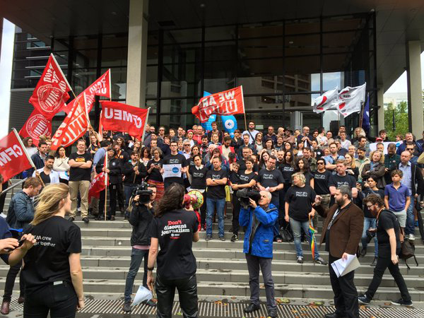Fairfax staff on strike over staff cuts