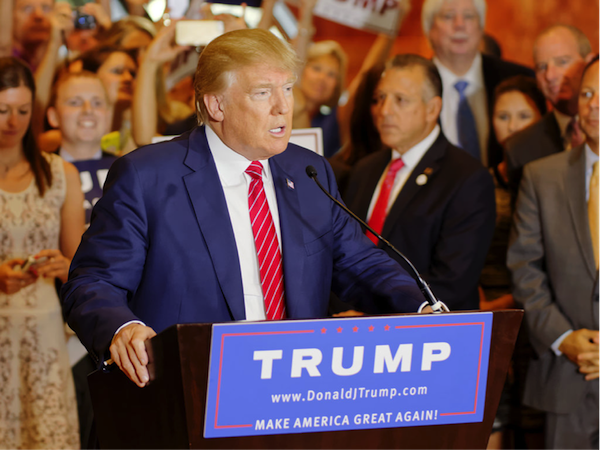 Donald Trump's presidential campaign has the momentum of a..