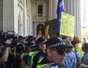 Taxi reform protesters storm parliament