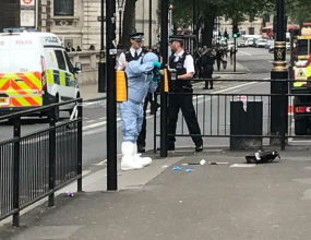 Man with knives arrested near UK Parliament House