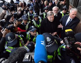Pell pleads not guilty