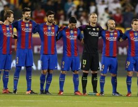 FC Barcelona pay tribute to terror victims