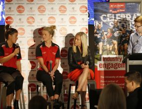 Esteemed panel discuss women's rise in sport.