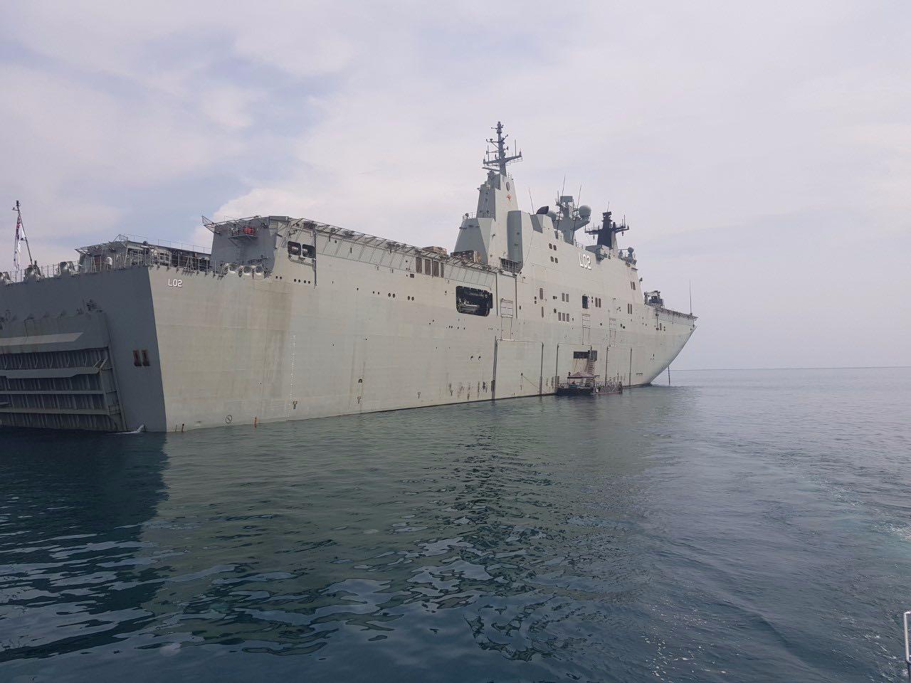 La Trobe aboard the HMAS Canberra