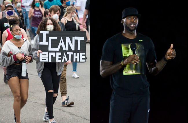 LeBron James outraged over the death of George Floyd.