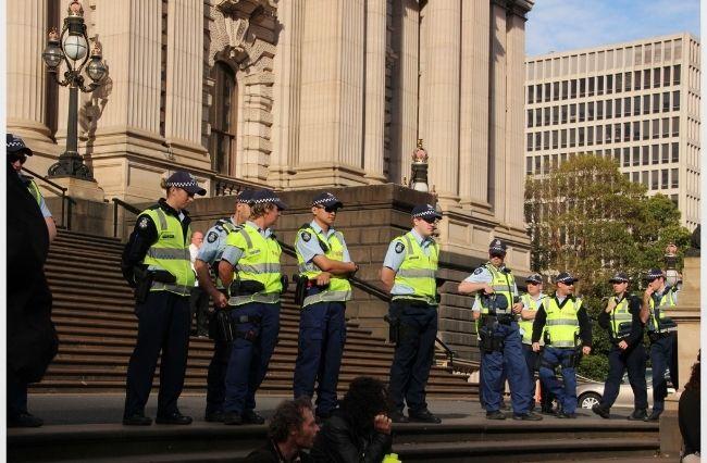 Dozens of anti-lockdown protesters arrested last night
