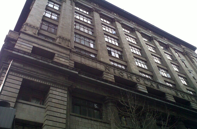 The building was put up for sale in June.